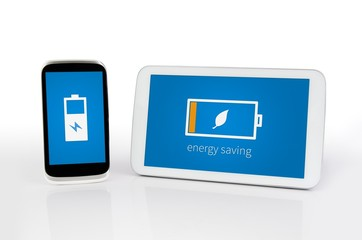 Mobile devices with energy saving mode