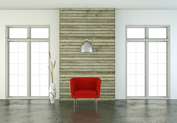 moderner Sessel Interieur Design