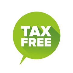 Tax free vector sign