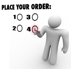 Place Your Order Customer Choose Selected Product Favorite Prefe