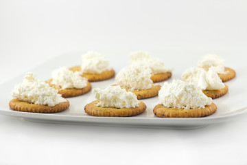 Crackers and Cream Cheese
