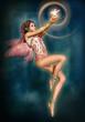 Obrazy na płótnie, fototapety, zdjęcia, fotoobrazy drukowane : Fairy with glowing Bird, 3d CG