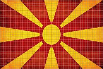 Abstract Mosaic flag of Macedonia