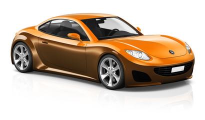Sports Car Contemporary Driving Transportation Vector Concept