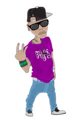 Rapper Character Vector Illustration