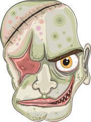 Strange Monster Head Vector Illustration