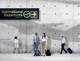 Business People Traveling Airport Passenger Concept