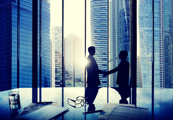 Business Handshake Agreement Partnership Deal Team Concept