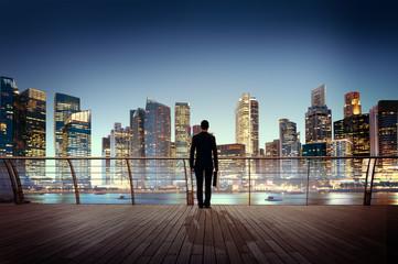 Businessman Corporate Cityscape Urban Scene Building Concept