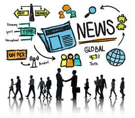 News Journalism Publication Media Advertisement Concept