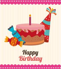 Birthday design, vector illustration.