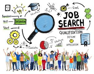 Diversity People Celebration Job Search Goal Concept
