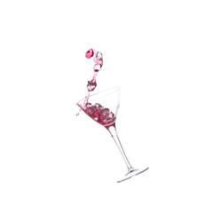 Splash cocktail with icecubes