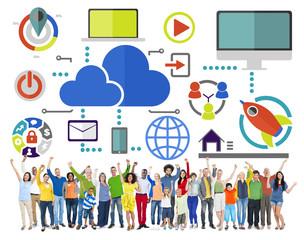 Big Data Sharing Online Global Communication Celebration Concept