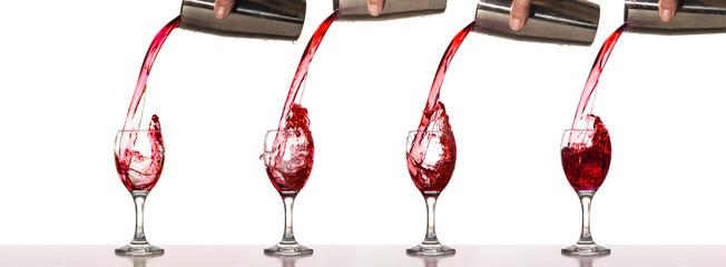 Splash red wine
