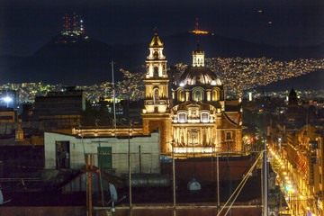 Plaza de Santa Domingo Chruches Zocalo Mexico City