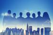 Business People Partnership Support Team Urban Scene Concept