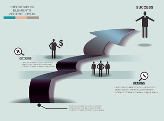business template head graphic design element.infographic illust