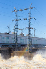 power poles and foam water