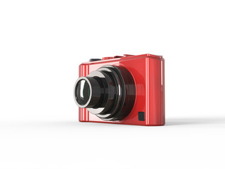 Red compact digital photo camera
