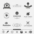Zdjęcia na płótnie, fototapety, obrazy : Retro Vintage Labels Hipster Logo design typography
