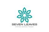 Abstract Flower Logo infinity loop leaves design vector - 76344072