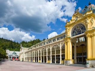 Spring colonnade, spa Marianske lazne, Czech republic