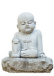 Stone statue of pundit on white