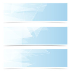 Web crystal blue headers footers collection