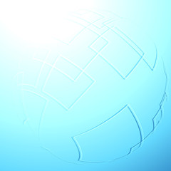 Blue abstract sphere background template