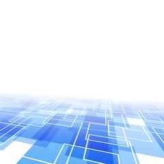 Modernistic blue tile perspective backdrop