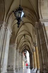 Passage avec arcades, Rathaus de Vienne