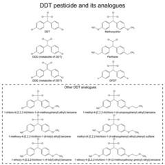 DDT pesticide and its alanogues