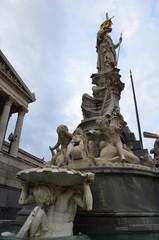 Fontaine d'Athéna, parlement autrichien, Vienne