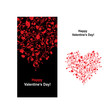 Valentine card with heart shape for your design