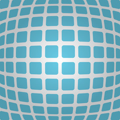 Bulging blue background with rounded rectangles