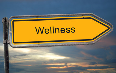 Strassenschild 19 - Wellness