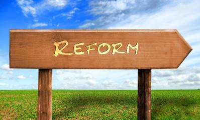 Strassenschild 30 - Reform