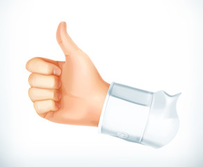 Thumb up, vector icon