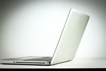 Laptop isolated on table