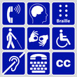disability symbols and signs collection - 76348025