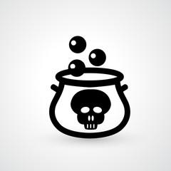 witches cauldron icon vector