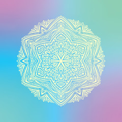 vector multicolored pattern with mandala