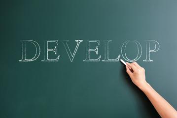 develop written on blackboard