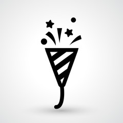 popper party icon vector