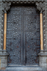 Door of Westminster Abbey, London, England, UK...