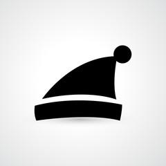 santa hat icon vector