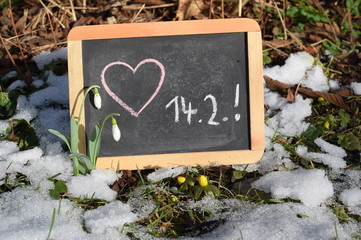 Erinnerung an Valentinstag - Tafel