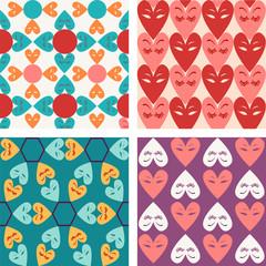 Vector pattern seamless of Valentine hearts - Illustration
