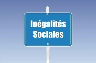 panneau inégalités sociales